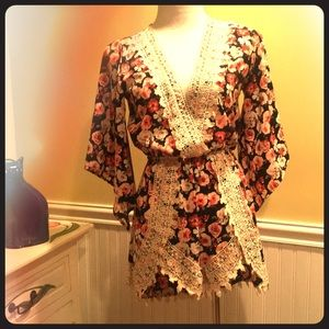 Other - Floral Print Romper